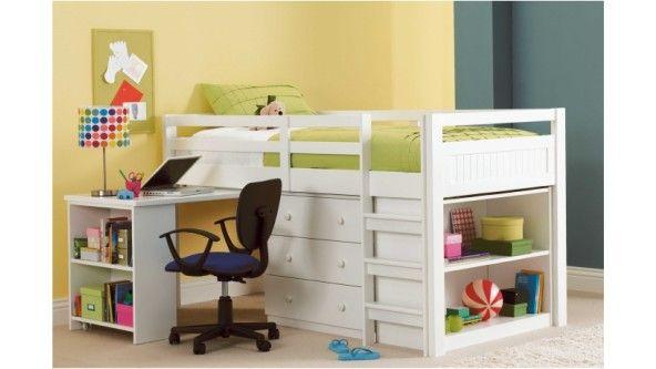 Buk Beds With Mini Desk | Carlo Mini Sleeper Single Bed   Harvey Norman    Harvey