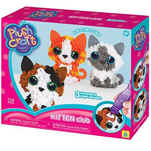 Diy Cat Crafts The Orb Factory Plushcraft Kitten Club 3d Soft Craft Cats Crafts Read More Reviews Of The Produc Plush Craft Dyi Kids Crafts Creative Toy