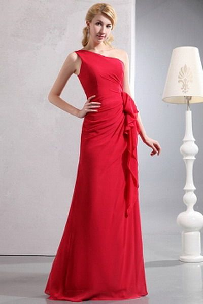 Chiffon Red Elegant Mother Of Bride Dress - Order Link: http://www.thebridalgowns.com/chiffon-red-elegant-mother-of-bride-dress-tbg3593 - SILHOUETTE: A-Line; SLEEVE: Sleeveless; LENGTH: Floor Length; FABRIC: Chiffon; EMBELLISHMENTS: Ruched , Ruffles - Price: 94USD