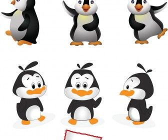 Cartoon Penguins Vector  Penguins    Penguins