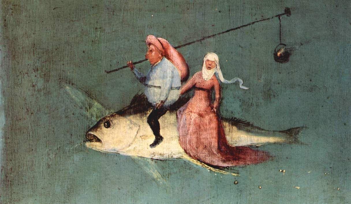 """El Bosco, detalle de """"Las tentaciones de San Antonio"""", 1490"""