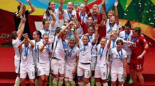 Carli Lloyd Hat Trick Leads Uswnt To World Cup Title Fifa Women S World Cup Usa Soccer Women Usa Soccer Team