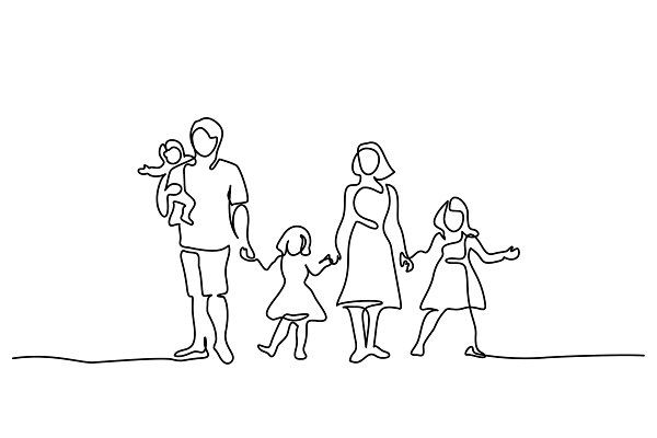 , Happy family father, mother, kids ~ Illustrations ~ Creative Market, Family Blog 2020, Family Blog 2020