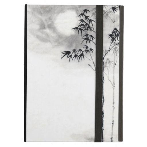 Classic  japanese sumi-e painting art bamboo moon iPad air cases