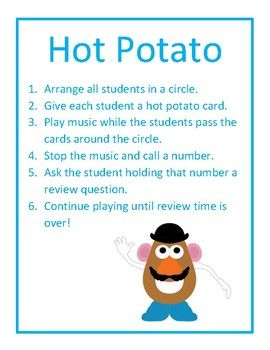 Hot Potato Review Game Classical Conversations Review Games