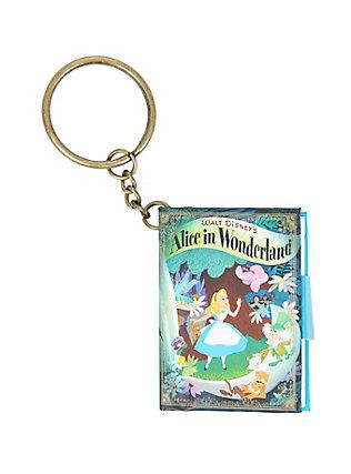 Disney Alice In Wonderland Mini Notebook Key Chain,