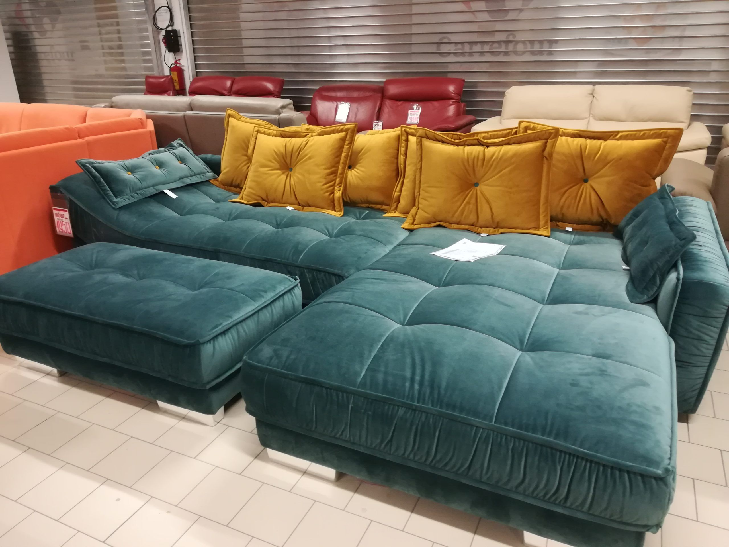 Diwan Möbel Ъглов диван+табуретка ''diwan'' - Mobel Galeria Outlet | Sectional Couch, Home, Home Decor