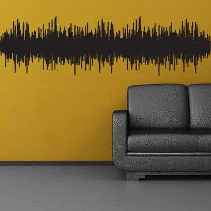 Sound Wave decal - Sound Wave Wall Decal - Origins Uknown - Wall ...