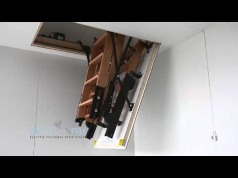 Precision Ladders Automatic Super Simplex Wireless Disappearing Attic Stairs    YouTube