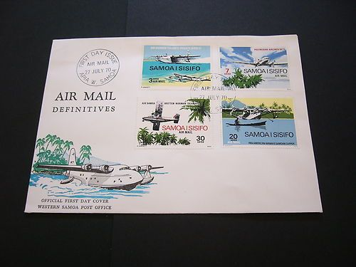 Samoa 1970 SC C3 C6 FDC Air Mail Definitives Small Planes | eBay