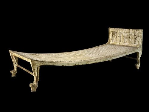 The Bed Displays Features Common To Ancient Egyptian Furniture Like Lion  Paws.
