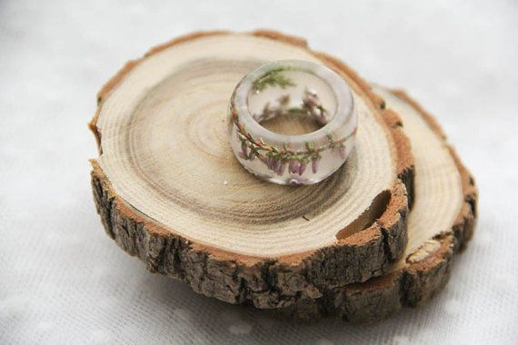 Heather Resin Matt Ring Resin Terrarium Matt Ring by kskalozubova #resin #ring #matt #terrarium #transparent