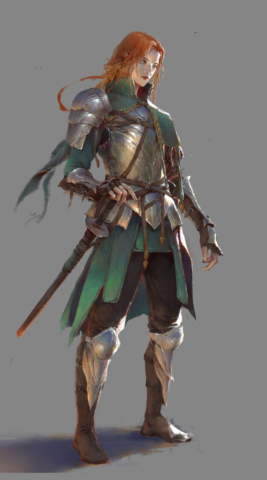 "wearepaladin:  "" 绿刀侠 by HE XIAOSONG  ""  Some inspirational art for gaming. Make sure to check out the artist's page."