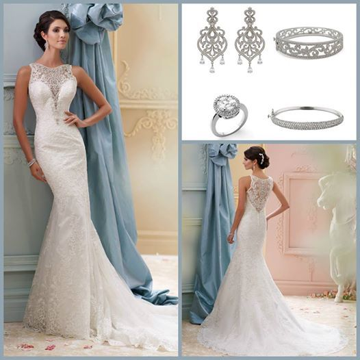 Embellish jewelry with david tutera for mon cheri dresses for David tutera wedding jewelry collection