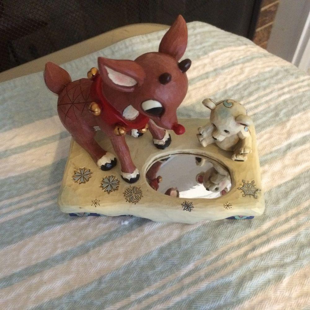 Rudolph & Baby Polar Bear Figurine By Jim Shore 4041643