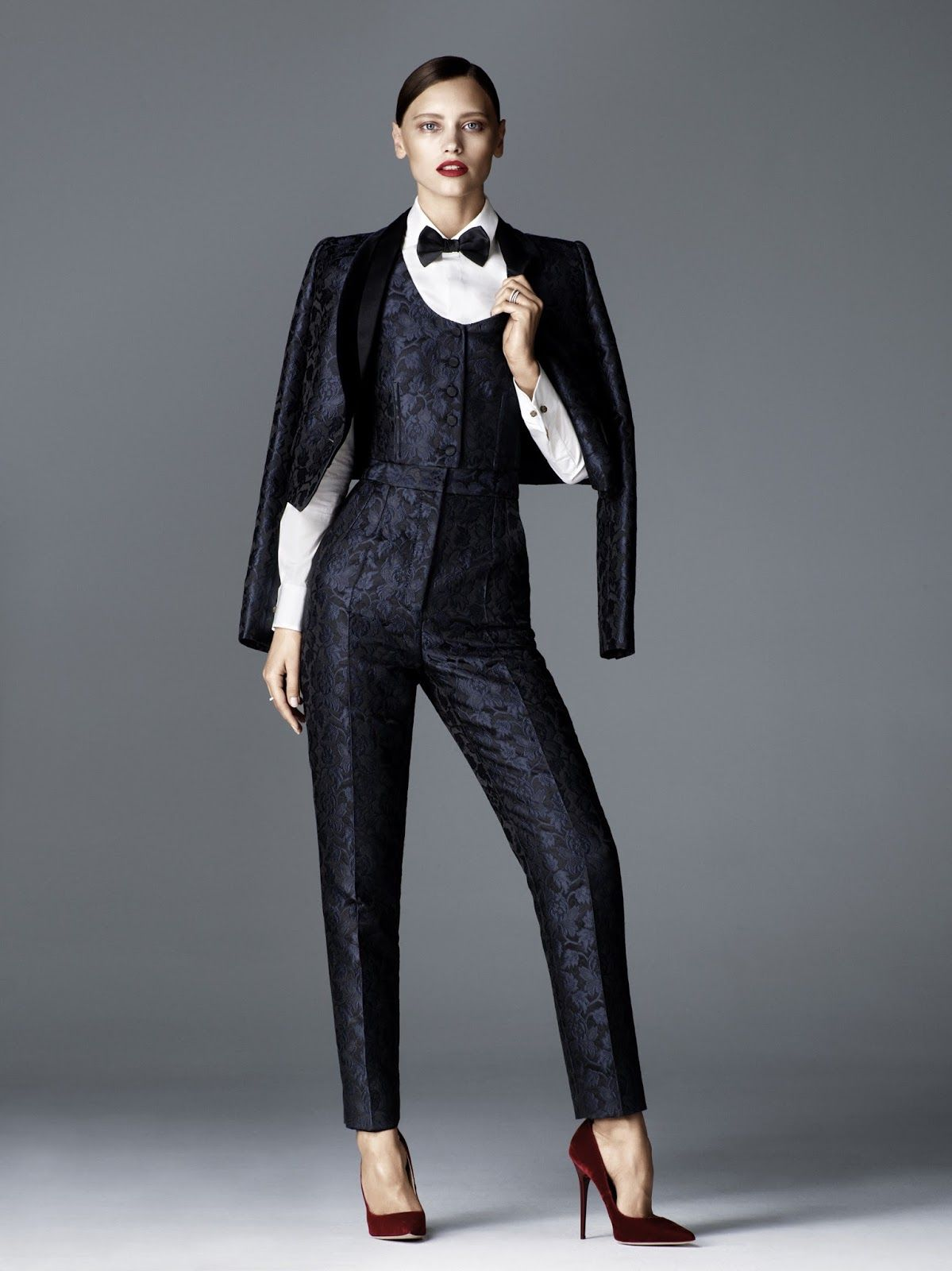 tuxedo junction: mila krasnoiarova by jimmy backius for elle germany november 2015 | visual optimism; fashion editorials, shows, campaigns & more!