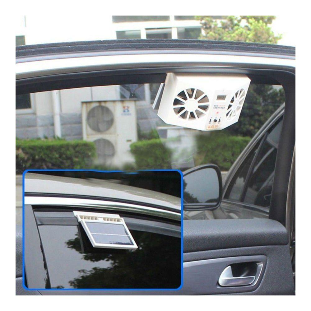 Solar Power Car Window Fan Auto Ventilator Cooler Air Vent Vehicle