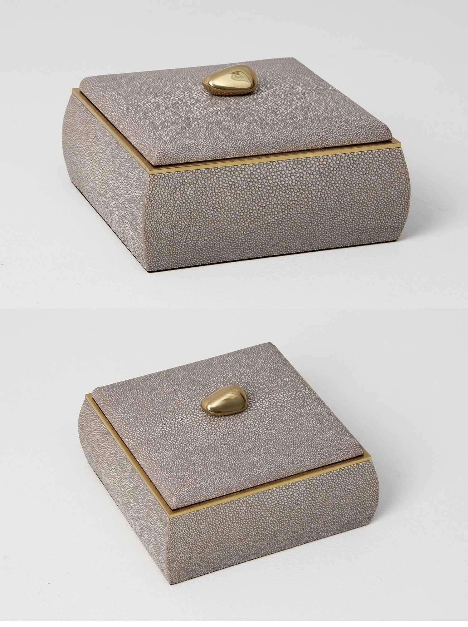 Jewellery box in barley shagreen brass Objekts Pinterest