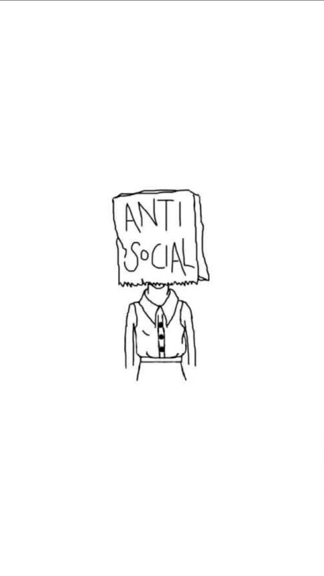 Anti Social Wallpaper Anti Social Iphone Wallpaper Quotes Love Social Art