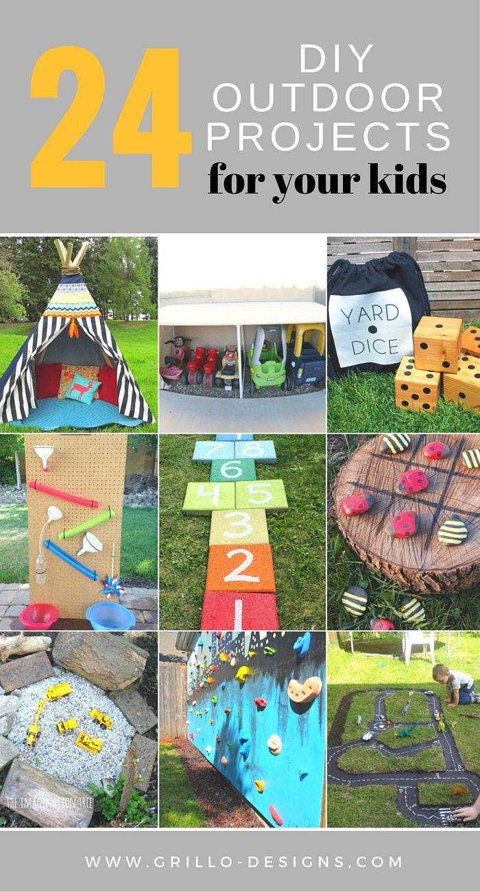 24 Fun Outdoor Diy Projects That Will Keep Your Kids Entertained This Summer Diy Playground Play Area Backyard Outdoor Diy Projects