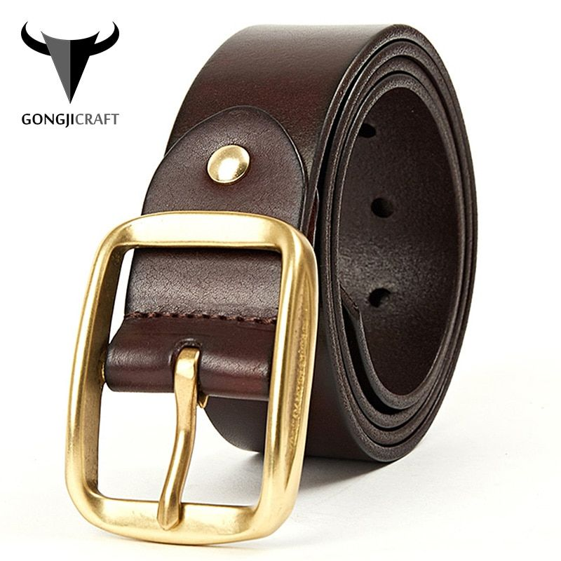 """MENS LEATHER BELT SOFT 100/% COWHIDE BROWN 30/""""-42/"""" TROUSERS SMART JEANS FASHION I"""