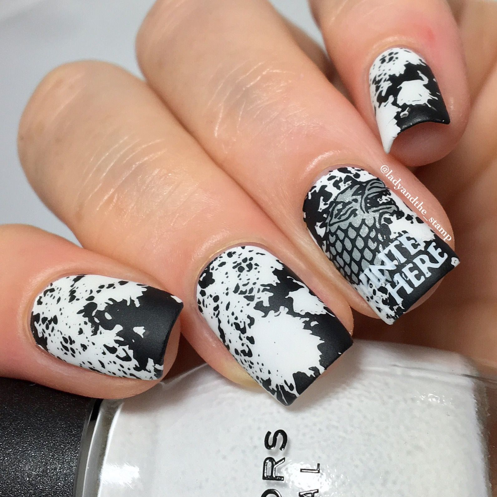 Creative shop stamping - plate 35. | Game of thrones nails ...