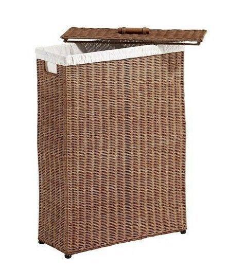 Wäschekorb aus Rattan Wäschebehälter in honigfarben | Badezimmer ...