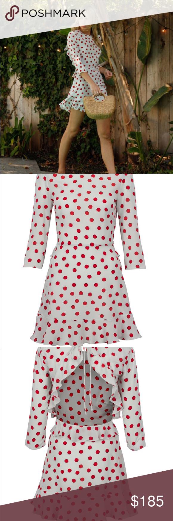 Realisation par ucgoldieud cherry mini dress nwt mini dresses dress