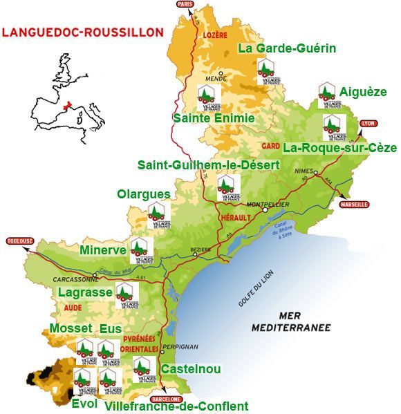 Map Of France Carcassonne.Languedoc Roussillon Map France Paris Travel France Provence