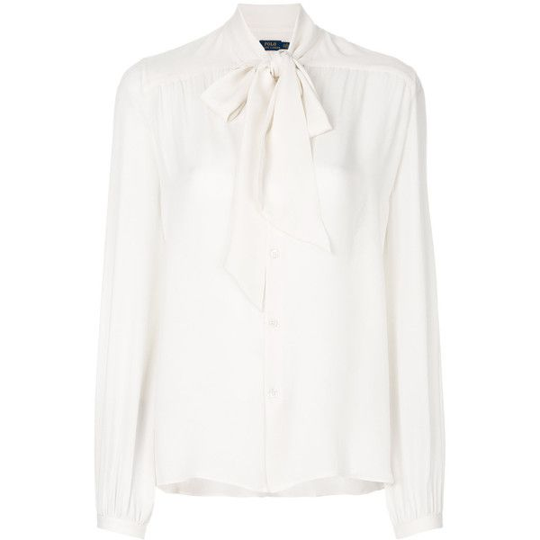 66846faca9 Polo Ralph Lauren georgette necktie blouse (9,490 THB) ❤ liked on ...