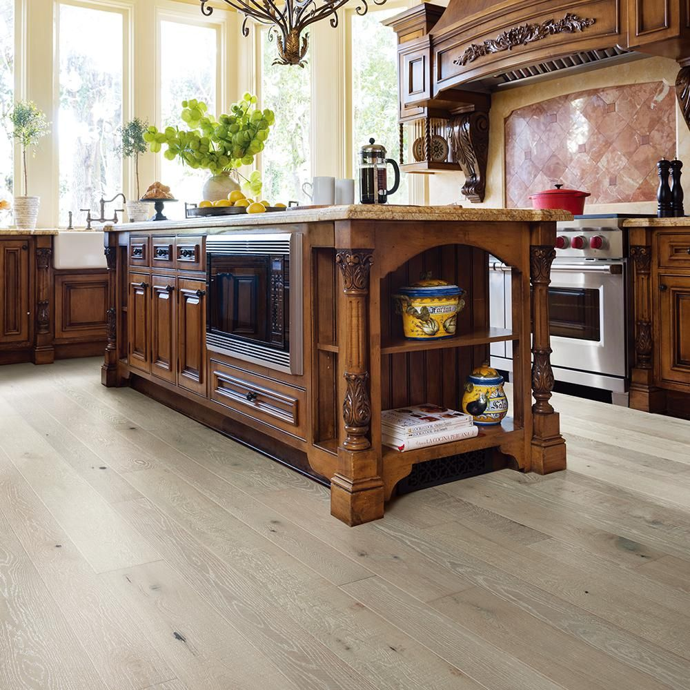 Malibu Wide Plank French Oak Seacliff 3 8 In T X 4 In And 6 In