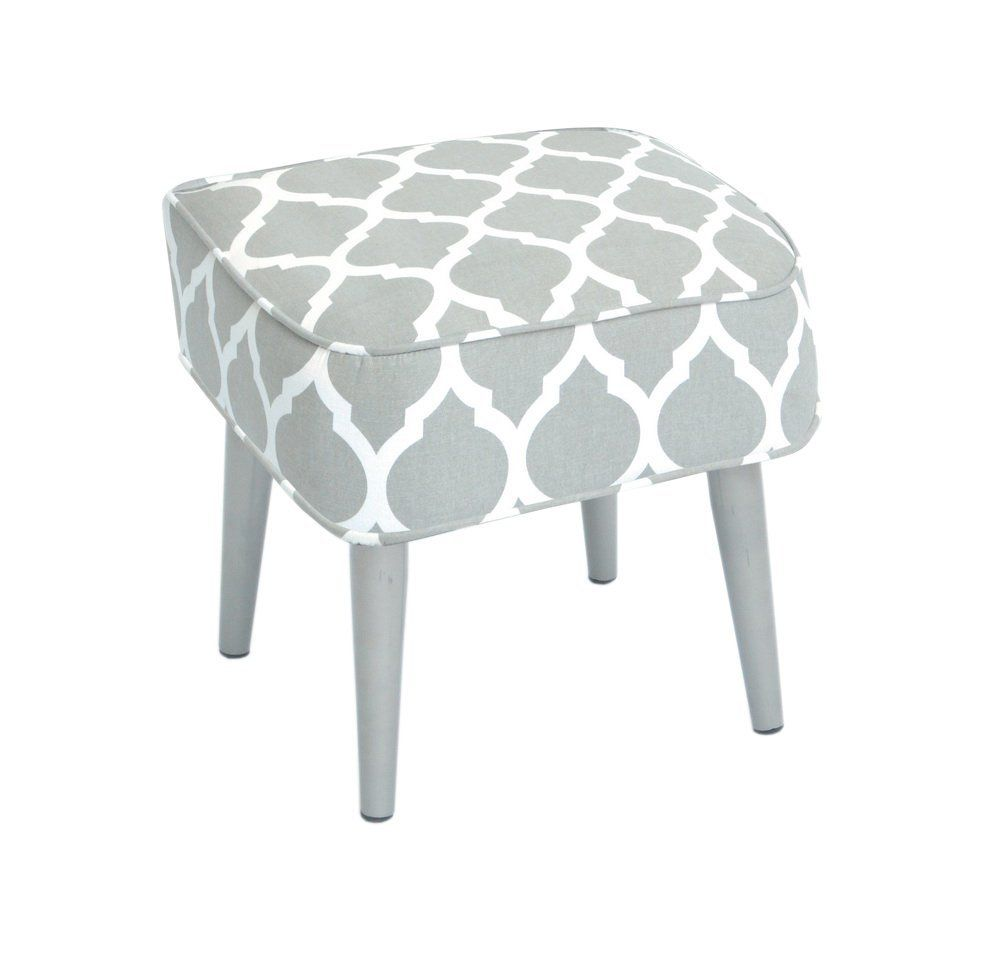 Amazon.de: Hocker Stil : Skandinavien - Farbe: HELLGRAU | decoration ...