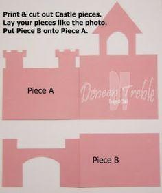 Free Printable Castle Templates | Castle Card, Template