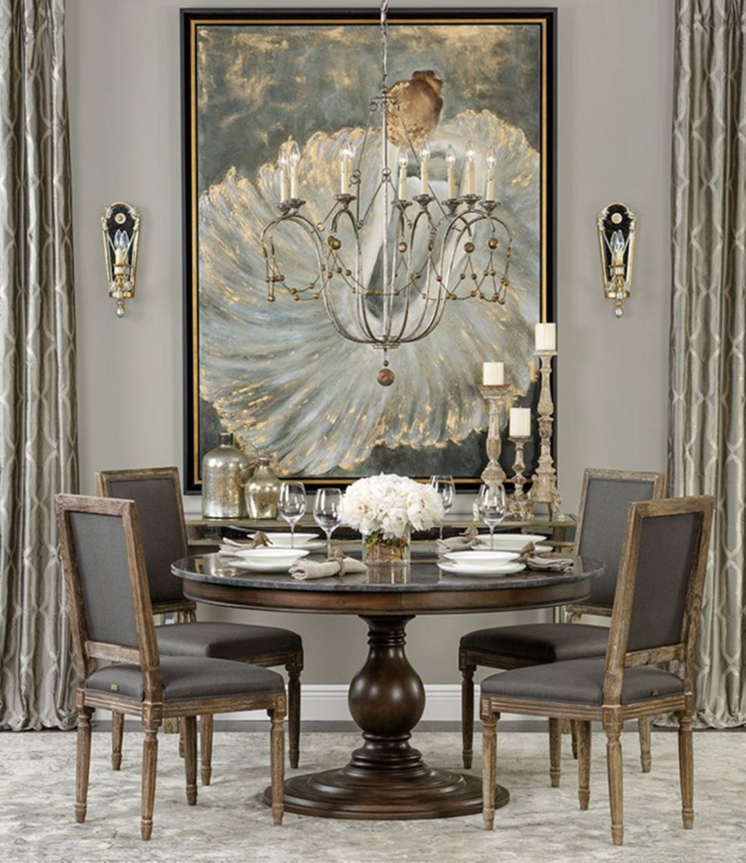 30 Wonderful Dining Table Set Up Ideas For Enjoy Your Dinner Homely Luxury Dining Room Elegant Dining Room Beautiful Dining Rooms