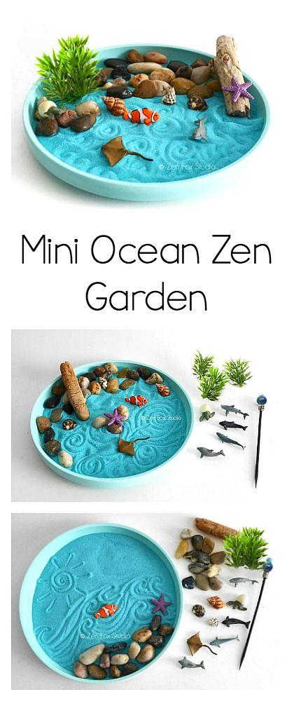 Mini Ocean Zen Garden Kit Fun For A Sea Life Or Ocean Unit A Great Sensory Experience And Relaxation Toy Oceans Ze Zen Garden Zen Arts And Crafts For Kids