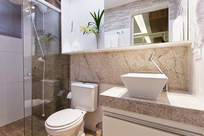 Decor Salteado  Blog de Decoração e Arquitetura  Banheiros claros branco e -> Banheiro Pequeno E Moderno