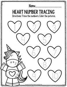 Printable Math Valentine s Day Preschool Worksheets