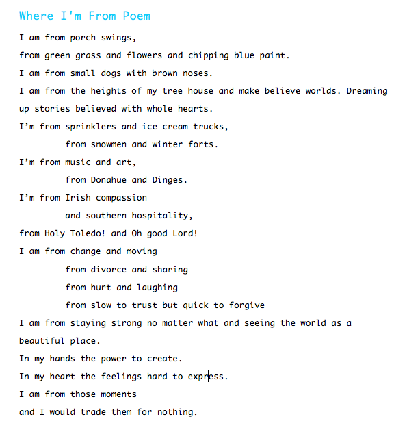 83fc677b7bf0 My Where I'm From Poem | Quotes | Where im from poem, I am poem, I ...