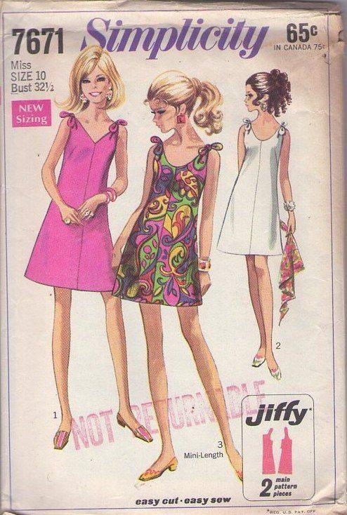 MOMSPatterns Vintage Sewing Patterns - Simplicity 7671 Vintage 60's