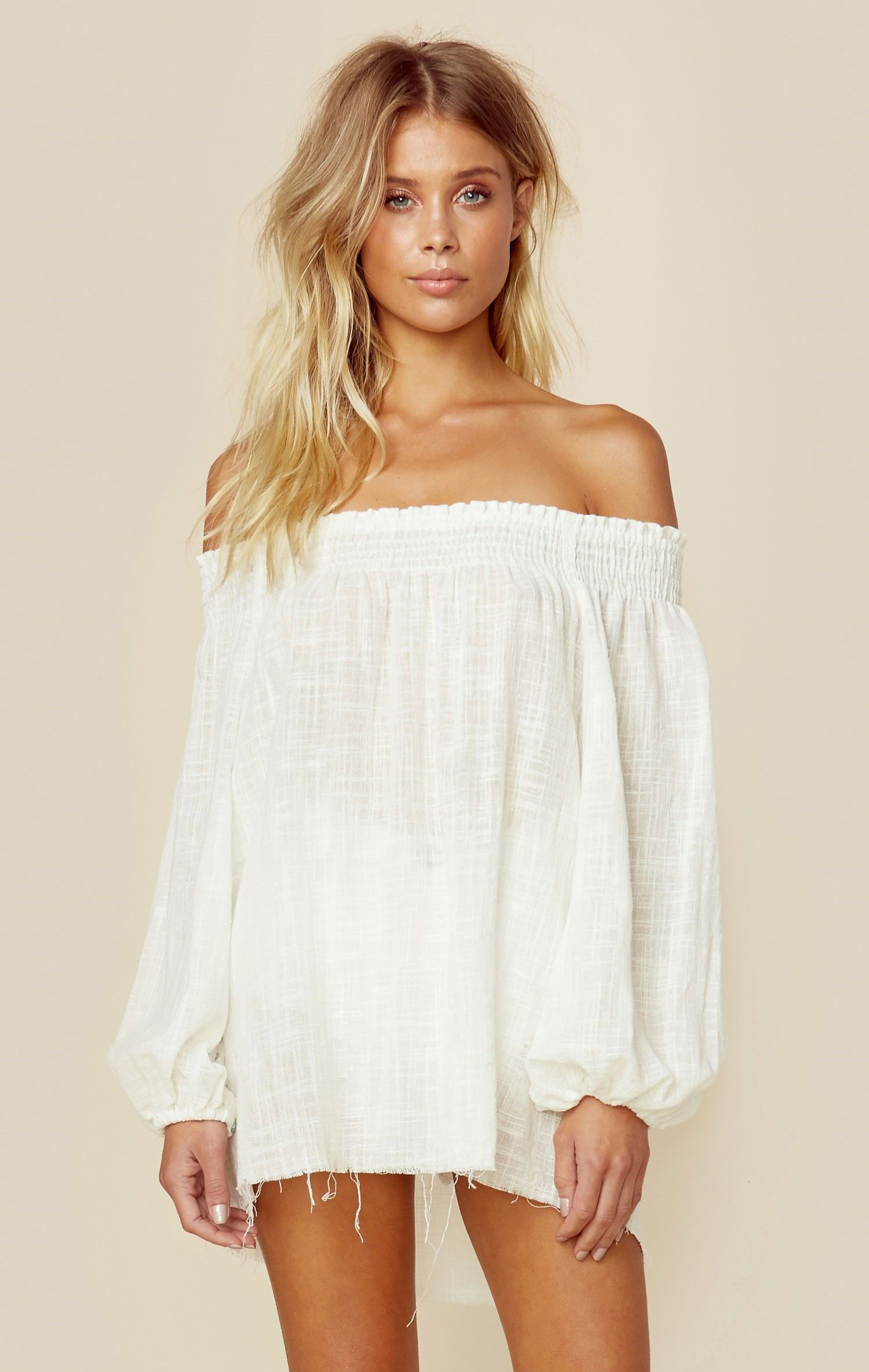 3bb65e73699039 Blue Life s Easy Breezy Off the Shoulder Top lives up to its name with its  lightweight fabrication