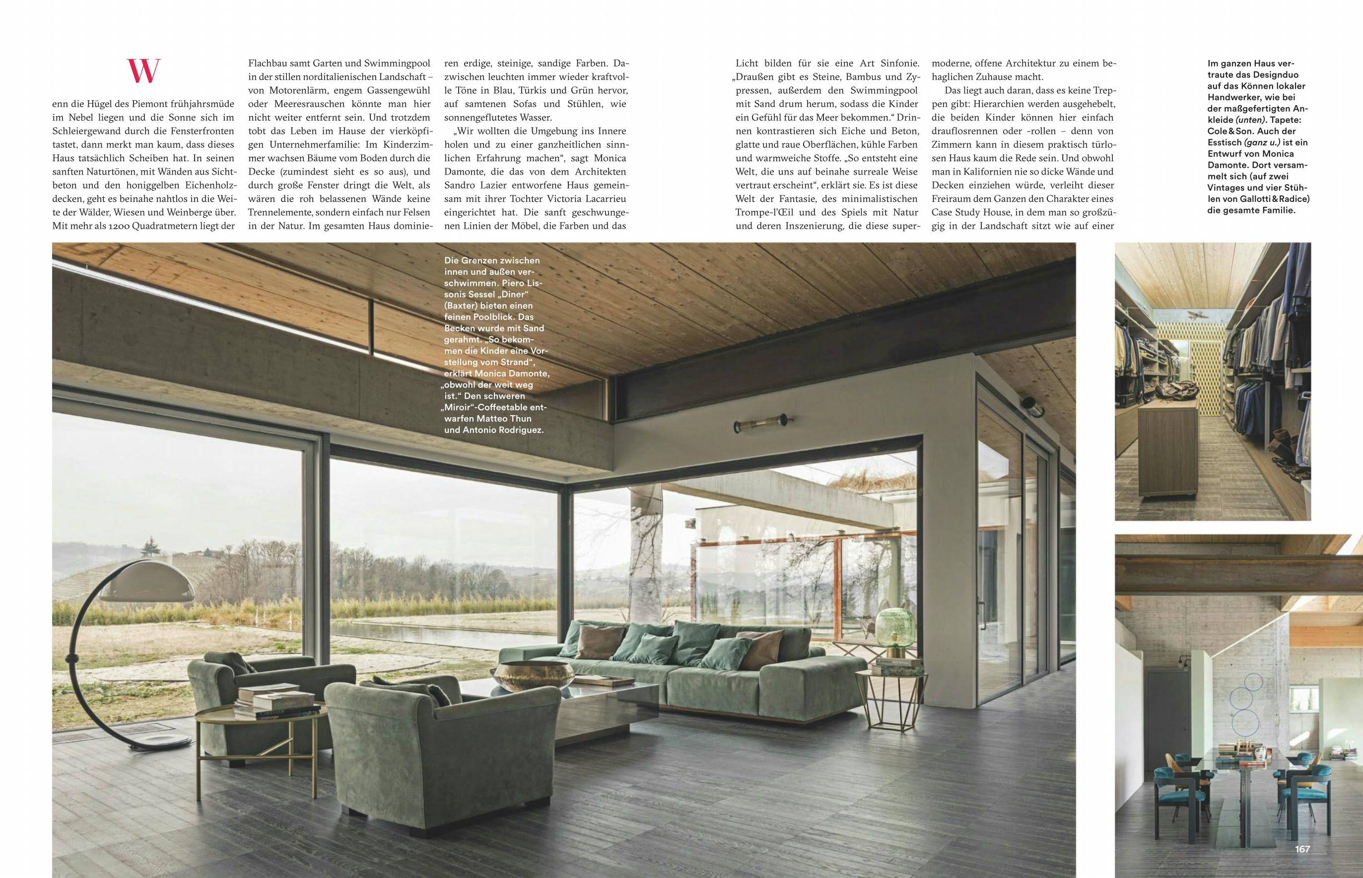 Designer Len Esstisch ad germania damonte lacarrieu interiors project press