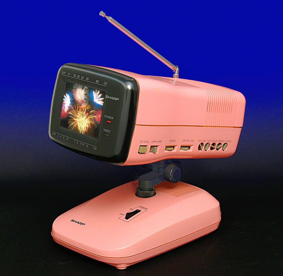 Collections often overlap. This pink TV from Sharp (1986 ...