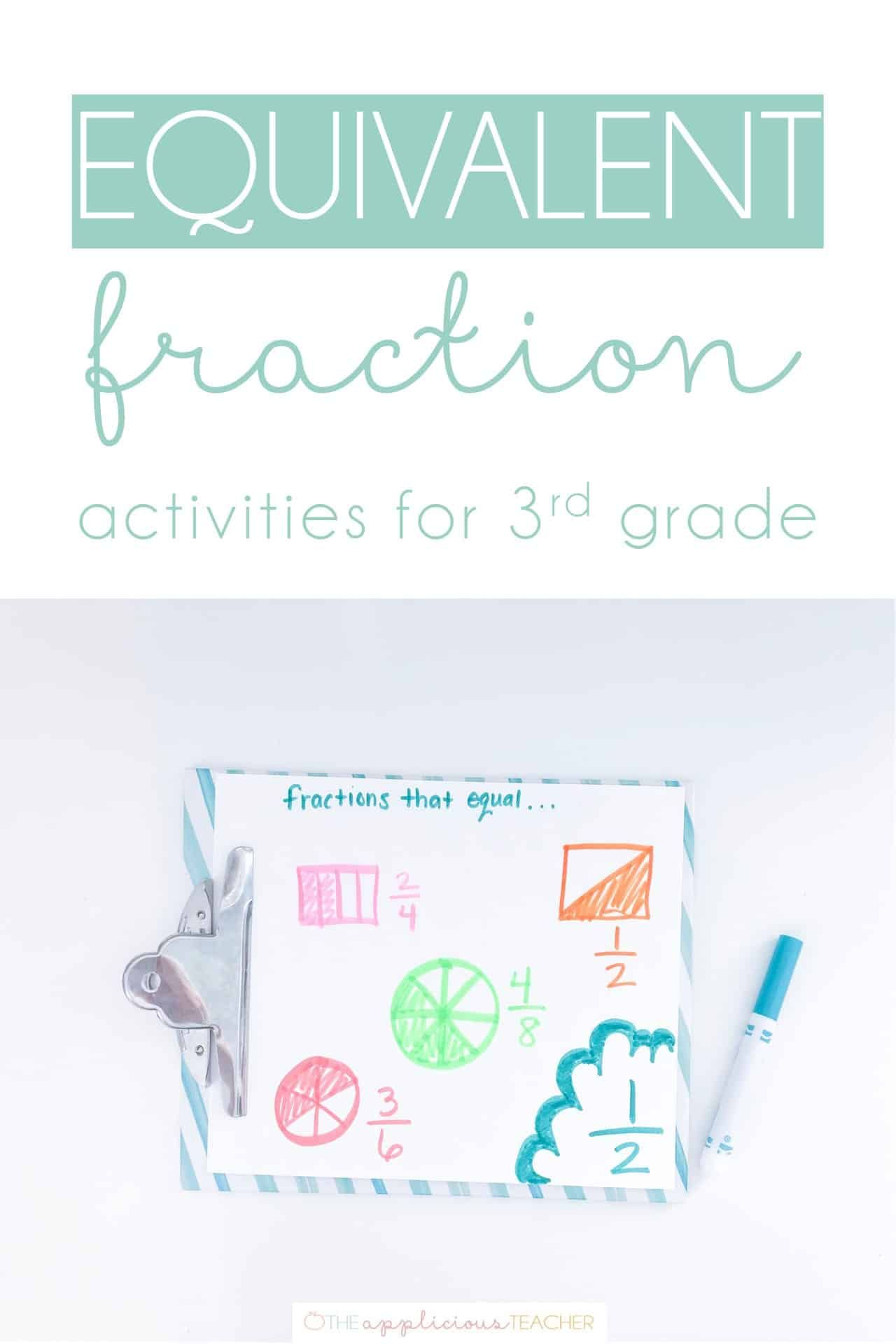 Equivalent Fraction Activities For 3rd Grade In