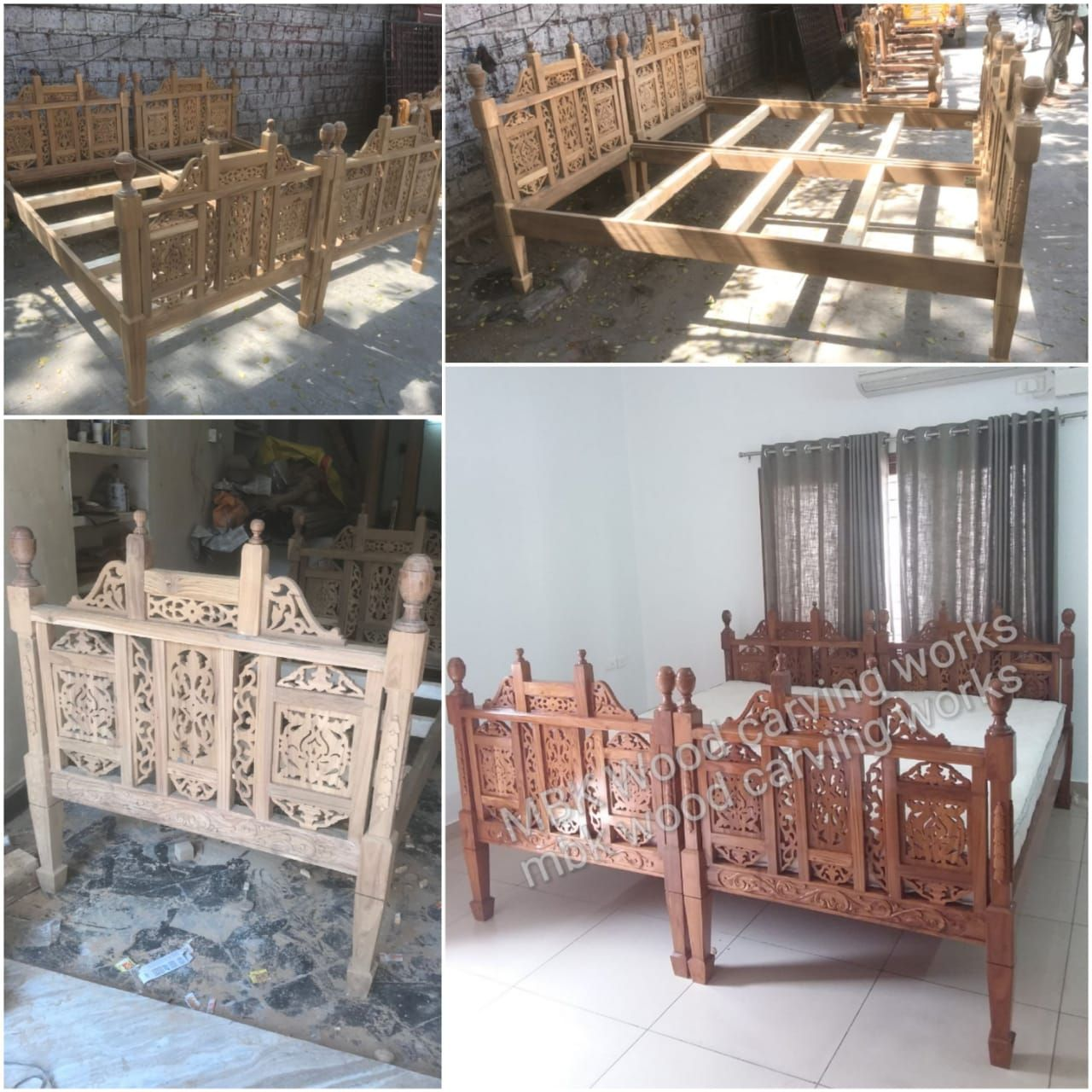 Mbk Wood Carving Works 08045133472 In Hyderabad India Wood Bed Design Wooden Sofa Set Unfinished Furniture