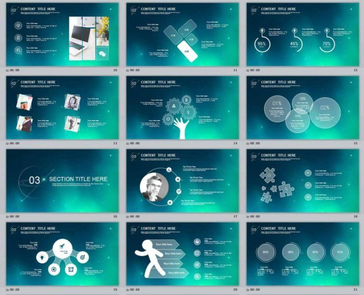 creative | powerpoint templates and keynote templates - part 3, Modern powerpoint