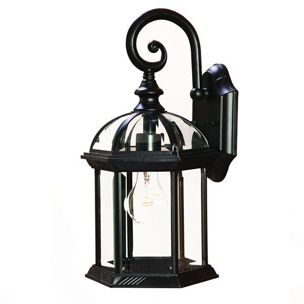 Acclaim Lighting Dover 16 In Matte Black 1 Light Outdoor Wall Lantern Rona Wall Mount Light Fixture Outdoor Wall Mounted Lighting Outdoor Light Fixtures