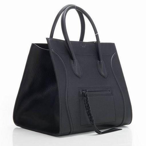Celine Black Luggage Phantom Tote Size(cm)  30 bottom width x 29 height x  20 depth Make of black leather exterior bffcd0f950f07