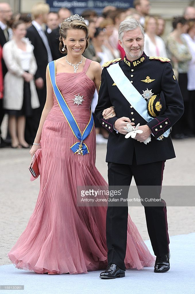 Prince Philippe And Princess Mathilde Of Belgium At The Wedding Of Crown Princess Victoria Of Sweden And Daniel Westling At Stockholm Cathedral.