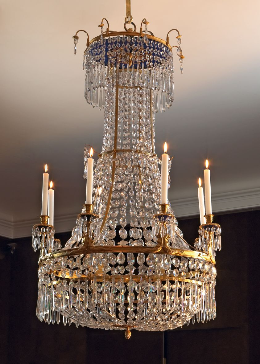 Baltic neoclassical gilt bronze and cut glass chandelier kirkja baltic neoclassical gilt bronze and cut glass chandelier mozeypictures Images