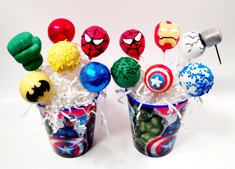 Superhero Cake Pops By Blakers Dozen